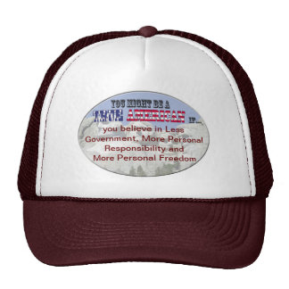 less government more responsibility freedom mesh hat