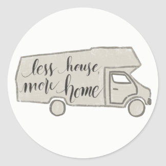 Less House, More Home Camper/RV Sticker