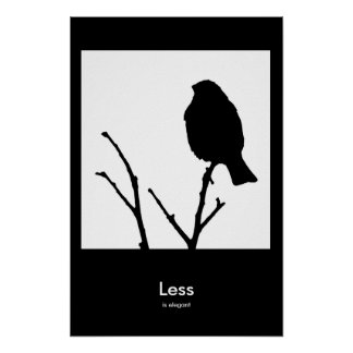 Less is Elegant Poster