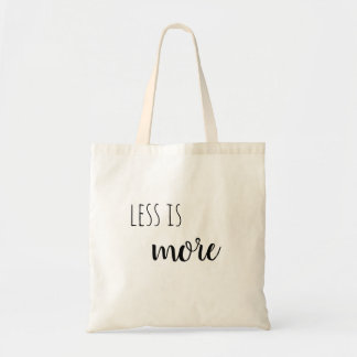 Less is more tote
