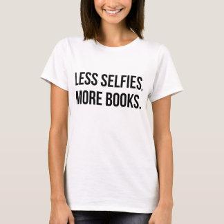 Less Selfies More Books T-Shirt Tumblr