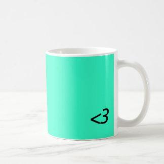 Less Than Three Basic White Mug
