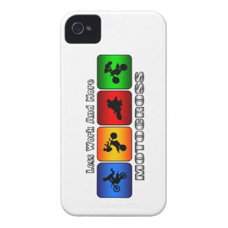 Less Work And More Motocross iPhone 4 Cases