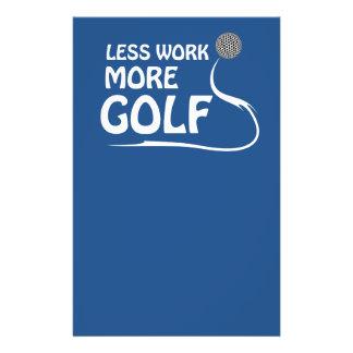 Less work more golf 14 cm x 21.5 cm flyer