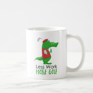 Less Work More Golf Funny Coffee Mug