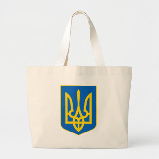 Lesser_Coat_of_Arms_of_Ukraine Large Tote Bag