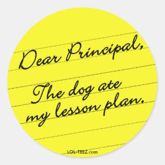 Lesson Plan Round Sticker