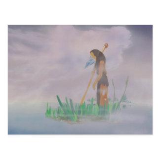 Lessons of Solitude watercolour Postcard