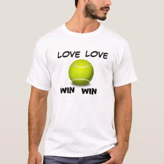 Lessons on Board Tennis Love Love  Win Win T-shirt