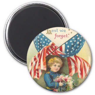 Lest We Forget Memorial Day Magnet