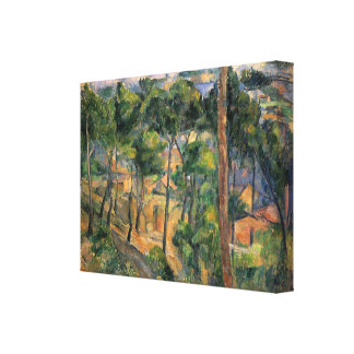 L'Estaque, View Through The Pines by Paul Cezanne Canvas Print