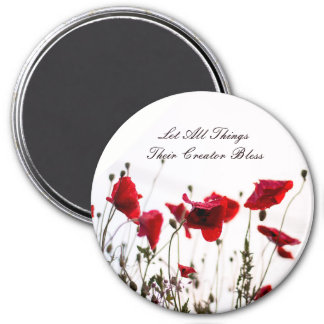 Let All Things Their Creator Bless 7.5 Cm Round Magnet
