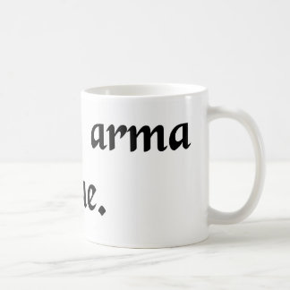 Let arms yield to the toga. basic white mug