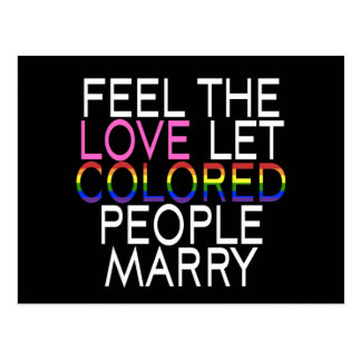 Let Colored People Marry Postcard