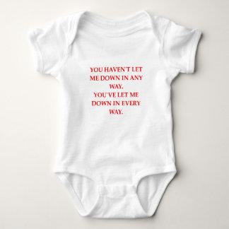 let down baby bodysuit