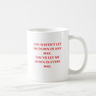 let down coffee mug