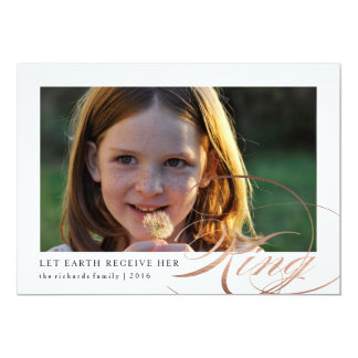 Let Earth Receive Her King Religious Photo Card 13 Cm X 18 Cm Invitation Card