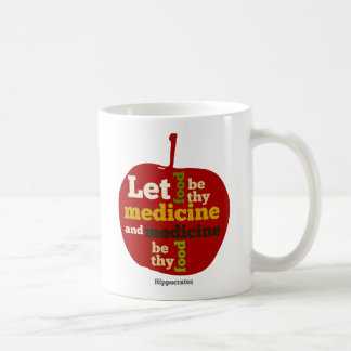 Let Food be thy Medicine APPLE Coffee Mug