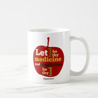 Let Food be thy Medicine APPLE Basic White Mug