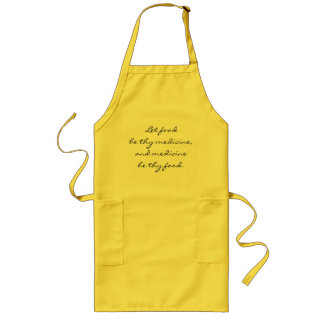 Let food be thy medicine apron