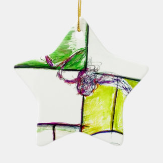Let Freedom Reign in the Dance of the Chaos Star Ceramic Star Decoration
