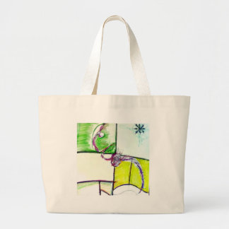 Let Freedom Reign in the Dance of the Chaos Star Large Tote Bag