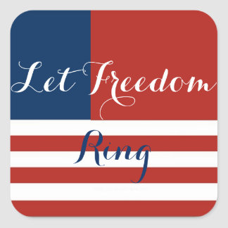 Let Freedom Ring DIY Cupcake Pick Stickers