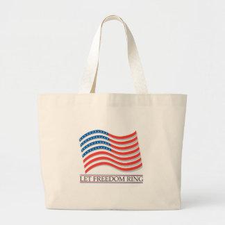 Let Freedom Ring Flag Bag