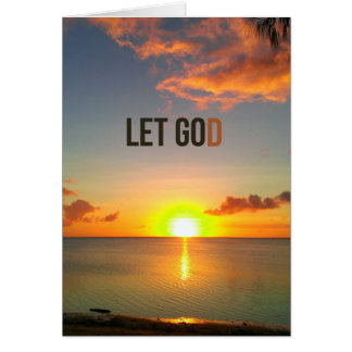 Let Go and Let God Card