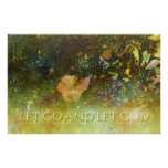 Let Go and Let God - Leaf Print