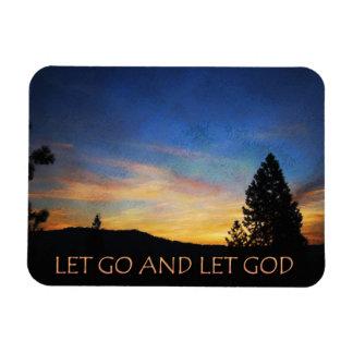 Let Go and Let God Orange Blue Sunrise Magnet