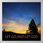 Let Go and Let God Sunrise Poster