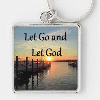 LET GO AND LET GOD SUNSET PHOTO KEY RING