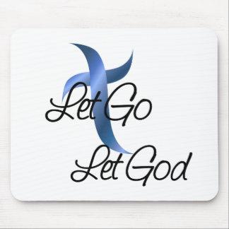 Let Go Let God Christian Mouse Pad