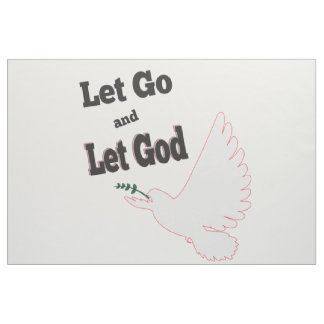 let go let god dove fabric