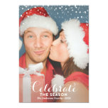LET IS SNOW | HOLIDAY PHOTO CARD 13 CM X 18 CM INVITATION CARD