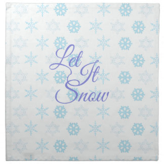 Let it be Snowy Christmas Napkin