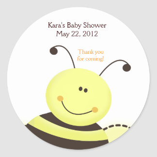 Let it Bee Bumble Bee Baby Shower Favor Sticker