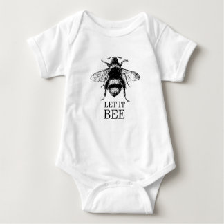 Let It Bee Vintage Nature Bumble Bee Baby Bodysuit