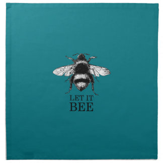 Let It Bee Vintage Nature Bumble Bee Napkin