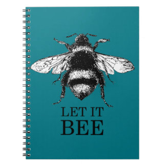 Let It Bee Vintage Nature Bumble Bee Notebook