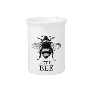 Let It Bee Vintage Nature Bumble Bee Pitcher