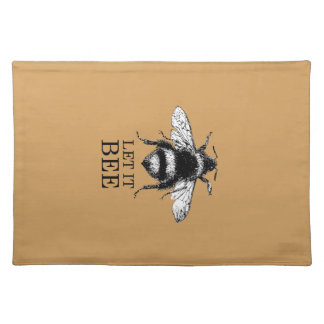 Let It Bee Vintage Nature Bumble Bee Placemat