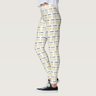 LET IT BRIE (BE) Funny Cheese Wedge Foodie Cooking Leggings