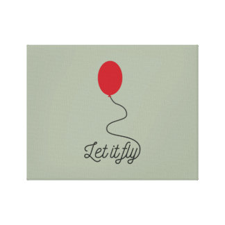 Let it fly balloon Ziw7l Canvas Print