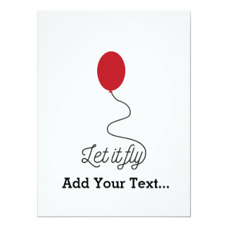 Let it fly balloon Ziw7l Card