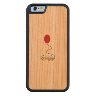 Let it fly balloon Ziw7l Carved Cherry iPhone 6 Bumper Case