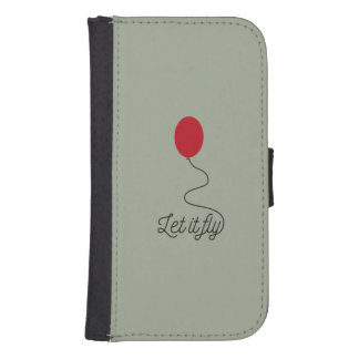Let it fly balloon Ziw7l Samsung S4 Wallet Case