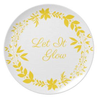 Let It Glow Plate