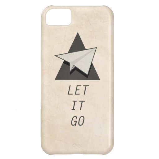 Let It Go Quotes Paper Planes iPhone 5C Cases